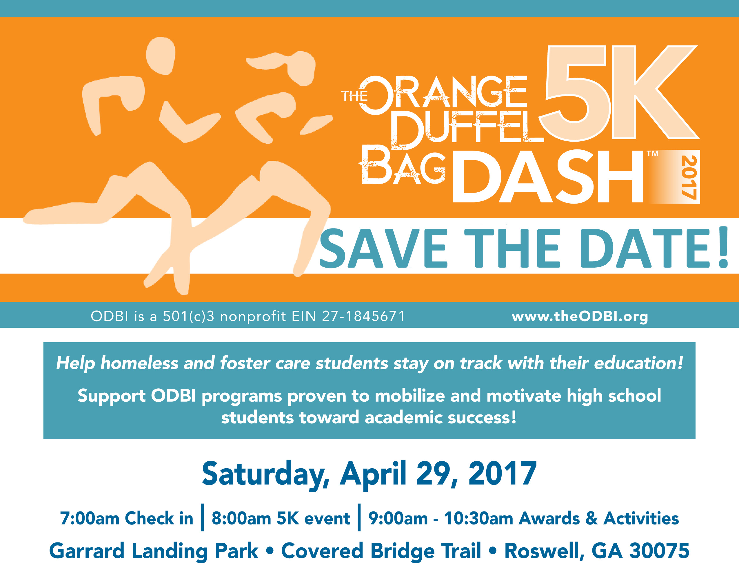 Save the Date _ ODB Dash 5K flyer_